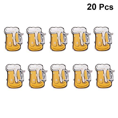 BESTOYARD Bier Tasse brosche pins led leuchtende lustige Abzeichen pins für Karneval neujahr Partei liefert 20 stücke