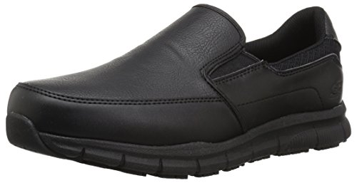 Skechers for Work Men's Nampa-Groton Food Service Shoe,black polyurethane,10.5 W US