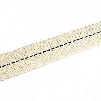 NKlaus 1 mètre 22mm de mèche de Lampe 100% Coton Naturel mèche Plate de Lanterne pour Lampe à pétrole brûleur à pétrole avec pétrole purifié 1300