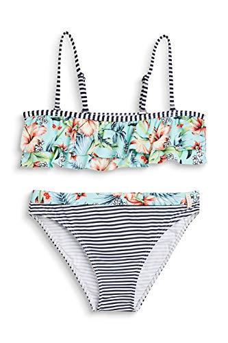 ESPRIT Mädchen South Beach YG Bandeau + Brief Badebekleidungsset, Blau (Turquoise 470), 170 (Herstellergröße: 170/176)