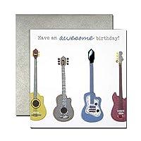 バースデーカード 「明るいそよ風」 07 ギター