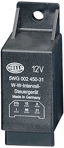 Hella 5WG 002 450-311 Relais, wiswas-interval, 12V, met houder