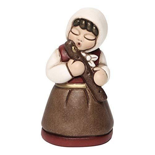 THUN® - Donna con Flauto - Versione Rossa - Statuine Presepe Classico - Ceramica - I Classici