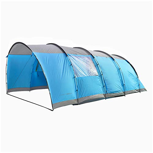 Charles Bentley 6 Person Waterproof Tent Camping Outdoor Festival 2 Rooms
