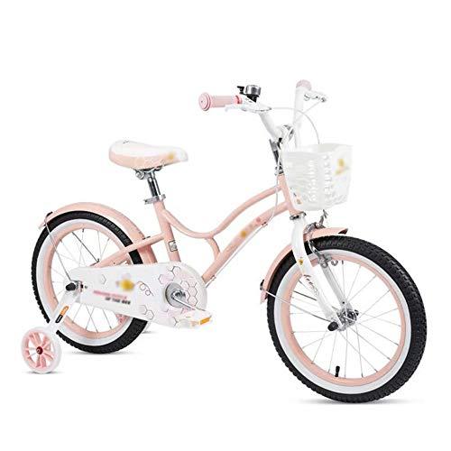 Bicicleta Niños con Ruedines Niños de la bici estudiar el aprendizaje montar en bicicleta Niños Niñas bicicletas con ruedas de entrenamiento con Bell, durante 4-10 años, 18 pulgadas, 21 pulgadas, 23 p