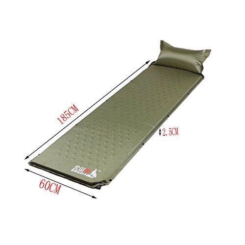 Matelas autogonflant Pad Lit Portable avec taie d'oreiller