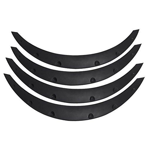 Auto Fender flares, 4unidades universal Auto SUV guardabarros Fender flares hojas Cilindro de cejas Protector auto modificación accesorios