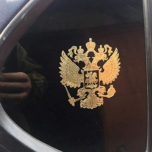 Fliyeong Calcomanía de estilo de coche de alta calidad ruso escudo de armas águila corona metal etiqueta engomada decoración del emblema - plata
