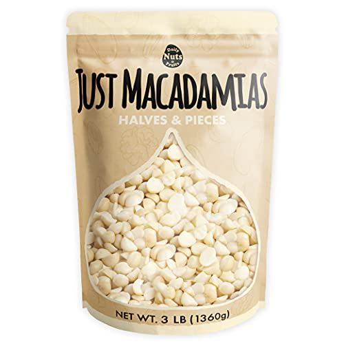 Just Macadamia Nuts (Raw, Non-GMO Project Verified, Certified Gluten Free