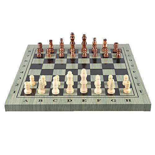 MxZas 4 Tamaño Juego de ajedrez Plegable Tablero de Madera Portátil Juego Viajes Fiesta Familia Actividades S-M (Puzzle Entertainment Fiesta) Jzx-n (Color : S)