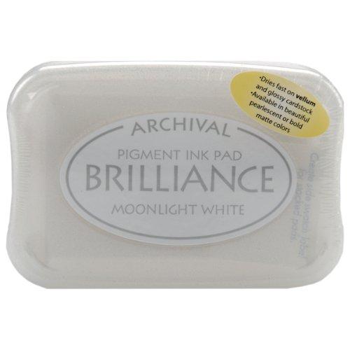 Tsukineko Brilliance Stempelkissen, Moonlight White, BIP80, Einheitsgröße