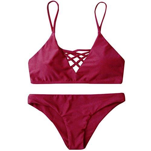 N/N Alifewill Damen Bikini Set Badeanzug Push up Badebekleidung, S/M/L