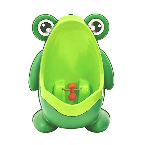 Cute Frog Shape Children Kids Potty Training Urinal for Boys Removable Toilet Pee Trainer Bathroom with Funny Aiming Target Green
