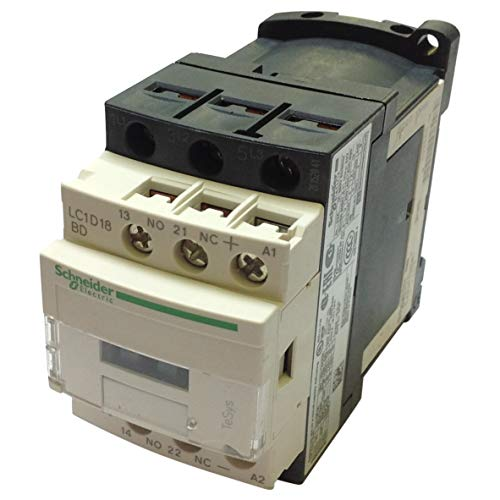 LC1-D18BD   LC1D18BD   Schneider CONTACTOR 18A AC-3 3P + 1N/O & 1N/C AUX 24VDC COIL