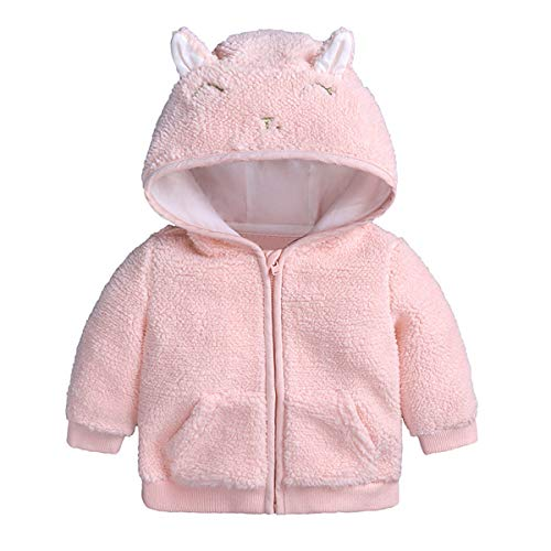 puseky pasgeboren baby jongens meisjes cartoon oor capuchon rits jas trui warme kleding bovenkleding
