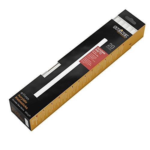 Steinel Klebesticks Acrylate Ø11 mm, 20x Heißklebe-Patronen, für hohe Alterungs- und Temperaturbeständigkeit, 600 g, Weiß