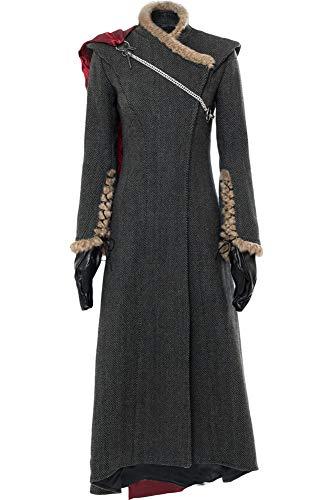 Cosplaysky Game of Thrones Season 7 Costume Daenerys Targaryen Dress Small Grey