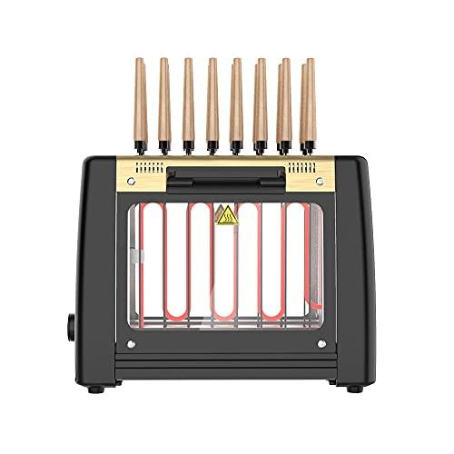 N / B Máquina de Barbacoa automática sin Humo, Horno Vertical Multifuncional, Desmontable y fácil de Limpiar 360 ° Giratorio, para Cocina Familiar al Aire Libre Camping