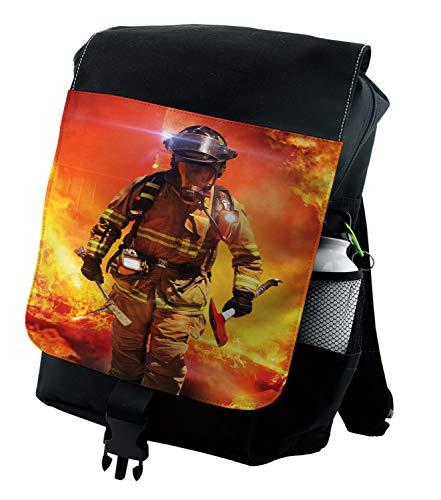 Lunarable Feuerwehrmann Rucksack, Rettungsdienst Thema, robuste Allzwecktasche