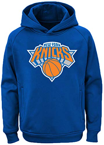Outerstuff NBA Youth Team Color Performance Primary Logo Pullover Sweatshirt Hoodie (X-Large 18/20, New York Knicks)