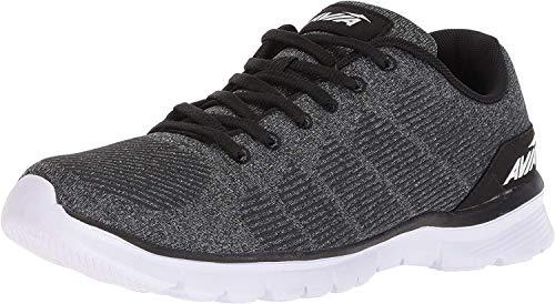 AVIA Men's Avi-Rift Running Shoe, black/iron grey/white, 10.5 EE - Wide US