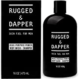 RUGGED & DAPPER Dual Purpose Power Shampoo & Body Wash for Men | with...
