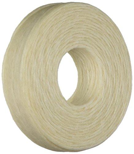 Beadaholique Encerado Lino irlandés Collar o anudar Cable 1mm, 50m, Color Beige