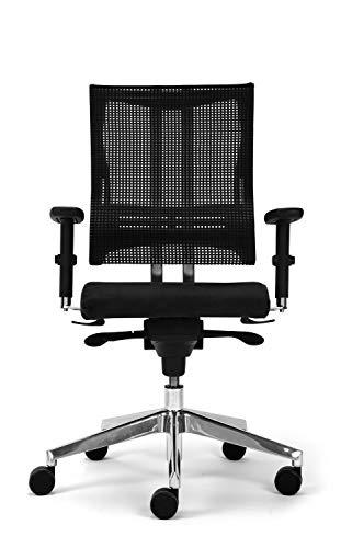Nowy Styl Bürostuhl Net-Motion schwarz ohne Kopfstütze, One Size