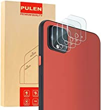 [4-Pack] PULEN Tempered Glass for Google Pixel 4 and Google Pixel 4 XL Camera Lens Protector,HD Clear Scratch Resistance Anti-Bubble 9H Hardness Camera Lens Glass Film
