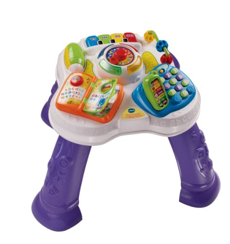 VTech Play & Learn Baby Activity Table, Baby Play Centre, Educational Baby Musical Toy with Shape Sorting, Sound Toy with Music Styles for Babies & Toddlers From 6 Months+ Boys & Girls, Purple