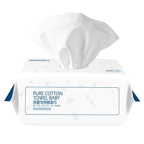 HEALLILY 80 Pcs Jetable Tissu Bébé Jetable Chiffons de Nettoyage Visage Coton Tissu Bébé Tampons Visage Nettoyage Pad pour Bébé Maison Infnat