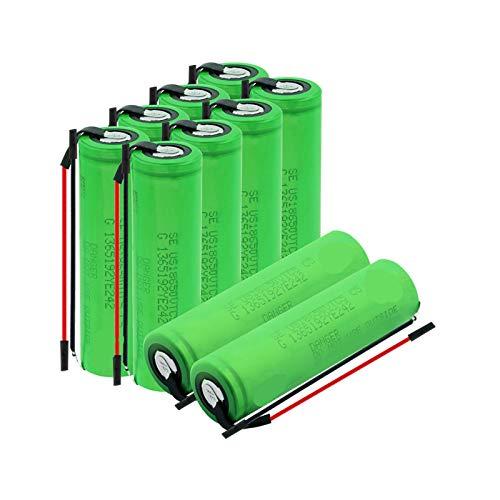 NHFGJ 6/8/10 Uds 3,7 v Batería De Litio Recargable 18650vtc5 con Cables BateríAs De Iones De Litio 30a De Alto Drenaje 2600mah para Luz De Emergencia 10pcs