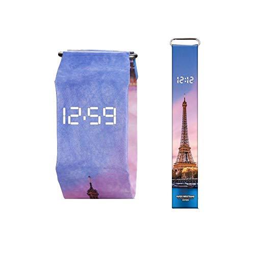 Wasserdicht für Dupont Paper Watch Neue Papieruhr Kreative Mode Männer Und Frauen Intelligente Papier Elektronische Uhr sternenhimmel damenuhren