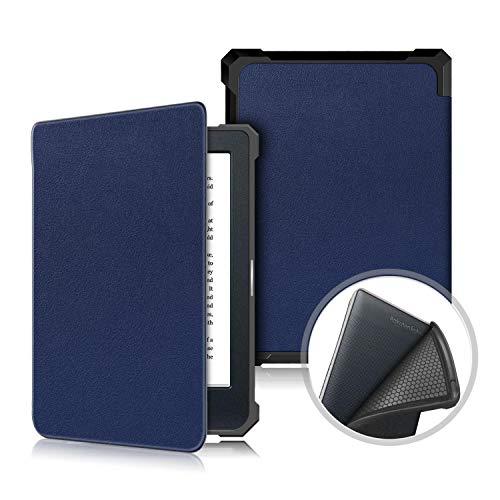 HHF Pad Accesorios para Kobo Nia eReader 2020, PU Cuero Slim Lightweight Auto Sleep Cover Smart Silicon Funda para Todo New Kobo Nia 6 Pulgadas (Color : Azul Marino, Talla : For Kobo Nia 2020)
