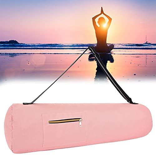 Eeneme Bolsa de Esterilla Yoga con Bosillo,Funda de Esterilla Yoga de Tela Ligera y Resistente al Agua, Correa Ajustable Material 100% Natural Yoga Mat Bag