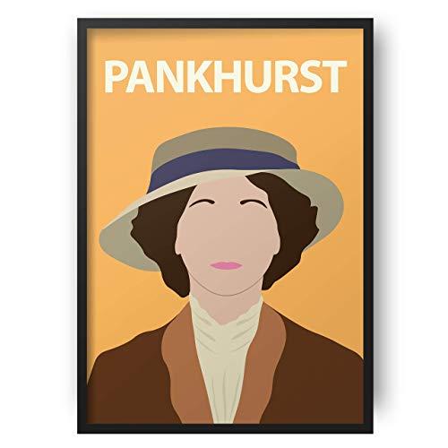 Emmeline Pankhurst Poster // Print - Artwork - Stampa - Minimalista - Colorata - Ispiratrice - Motivazionale - Aula - Decorazioni - Arte - Feminist - Suffragette