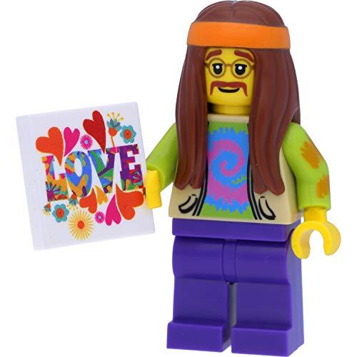 LEGO 8831 Minifigur Hippie (Sammelfigur aus der Serie 7) mit Love-Fliese