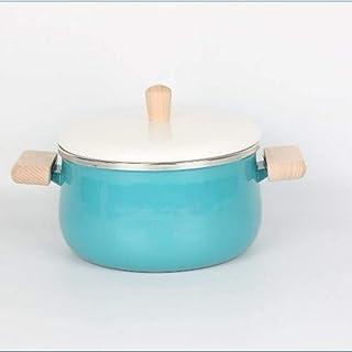 1yess Sopa de Olla Mini Leche Olla Cacerola Olla Antiadherente con Olla de Cocina Tapa de la Olla Estufa de Gas Cocina de inducción estofado, Azul B (Color : Blue B)