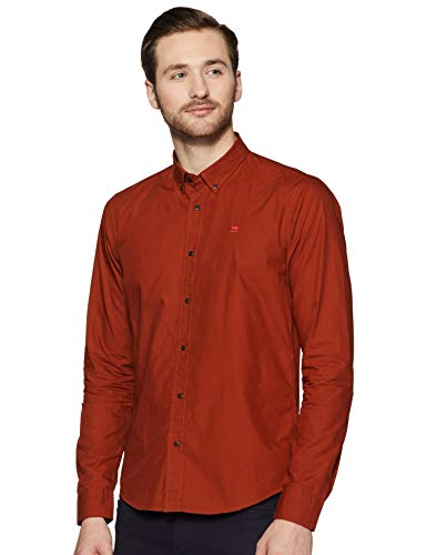 Scotch & Soda Herren Langarmhemd Classic Crispy Shirt 148855 Rum Run L