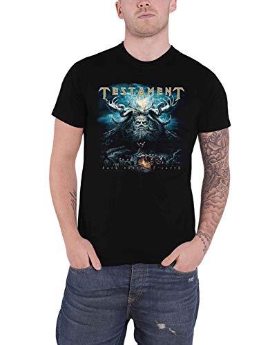 Camiseta Testament Dark Roots of Earth Band Logo oficial para hombre, color negro