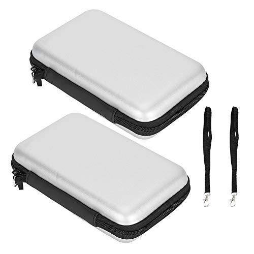 Semiter Conveniente para Llevar Versatilidad Consolas de Juegos Bolsa de Almacenamiento Utilizada para almacenar Bolsa de Almacenamiento Oficina para el hogar(Silver Gray)