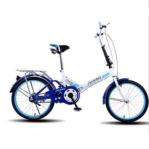 Bicicleta Plegable Unisex para Adultos De 20 Pulgadas Mini-Tamaño Freno Delantero V...