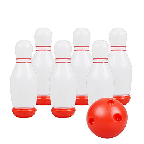 XIEJ Bowling-Set für Kinder, Indoor- und Outdoor-Sportspiele, Light-Up-Bowling-Set, Eltern-Kind-Familienspiele und Lernspielzeug für Party-, Festival- und Geburtstagsgeschenke