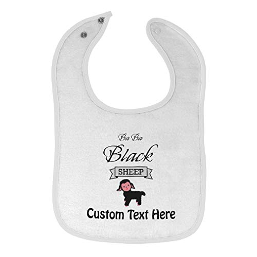 Toddler & Baby Bibs Burp Cloths Black1 Sheep Farm New Designs Ba Black Cotton Items for Girl Boy Gifts Farmers Ab White Custom Text Here