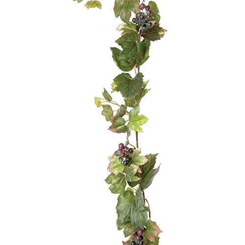 Artificial Grape Leaf Garland 6 feet Long