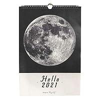卓上カレンダー 2021年新年壁掛けカレンダー装飾月間カレンダースケジュールクロッキング注デイリー装飾家庭用壁掛けカレンダー カレンダー (Color : Moon)