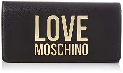 Love Moschino Precollezione SS21   Portafoglio da Donna, Nero, Normal