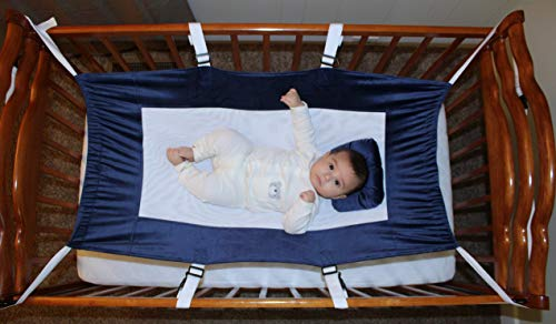 Quality Koncepts Baby Crib Hammock - Infant Sleeping Lounger - Comfortable Baby Bed - Portable Sleeper -Breathable Durable Material - Mimics Womb - Safe - Blue