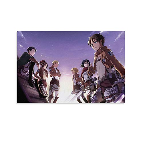 LIANGBO Attack on Titan Wallpapers for Laptop Poster Decorative Canvas Wall Paintpapers Wall Art Wall Art Salon Poster Poster 40x60 cm