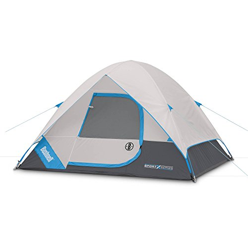 Bushnell Elite Sport Series Tent - 8' by 7' Dome Tent, Sleeps 4 Comfortably- Heavy Duty Camping or Backpacking Tent